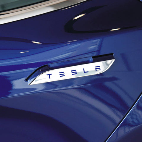 Multicolor Door Handle Decals Stickers for Tesla Model S Emblem Badge (4pcs ) - TAPTES