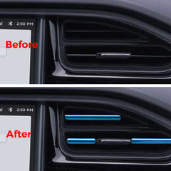 10 Pcs Car Air Conditioner Air Outlet Decoration Strip for Tesla Model X/S - TAPTES
