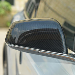 Pack of 2pcs Carbon Fiber Side Mirror Covers Cap for Model S - TAPTES
