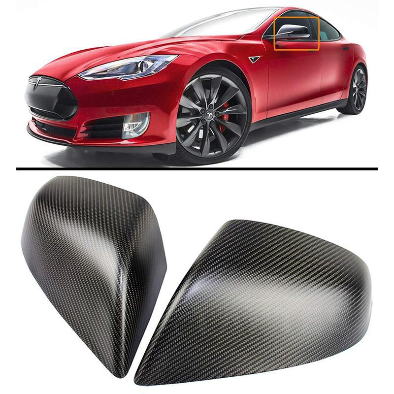 Carbon Fiber Side Mirror Covers Cap for Model S (set of 2) - TAPTES