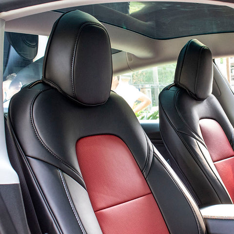 Leather Seat Covers for Tesla Model 3 Front Seats - TAPTES