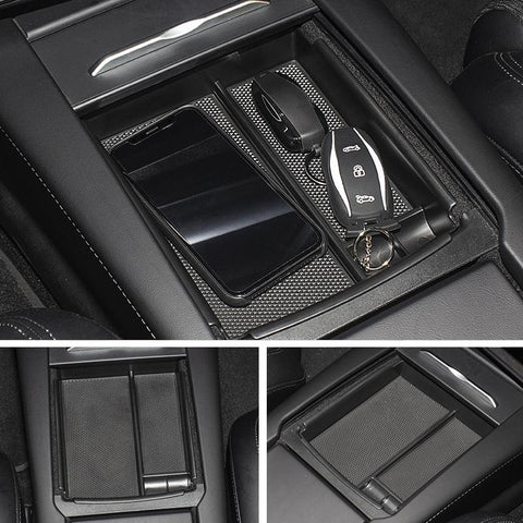 Center Console Organizer Storage Box for Tesla Model S
