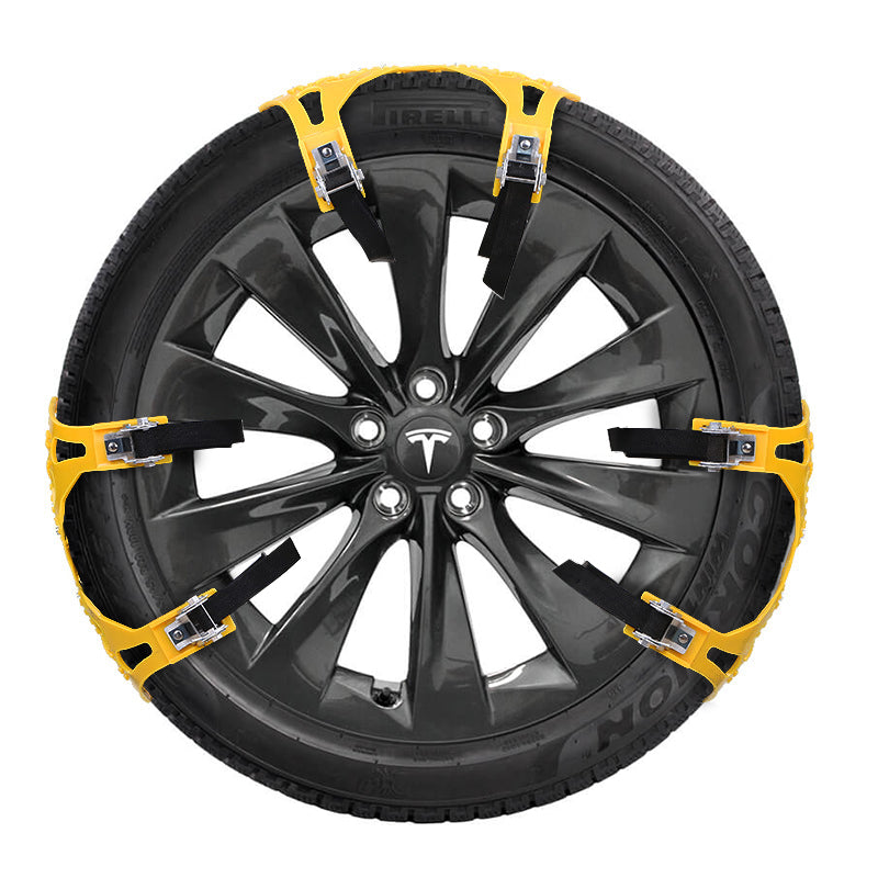 Tesla Model 3 Snow Tire Chain for Two Wheels, Must-have ...