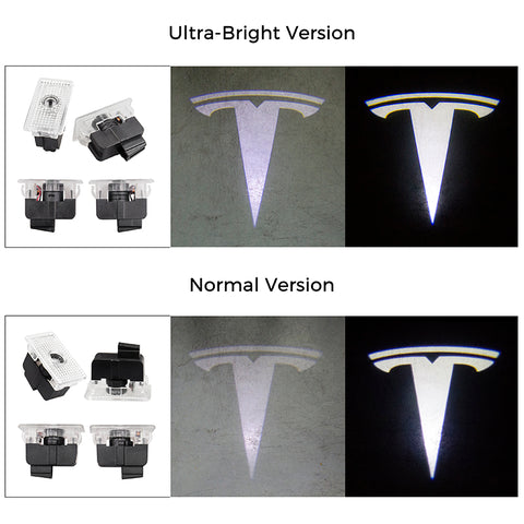 Tesla Logo LED Puddle Lights for Model X ( Set of 2) - TAPTES