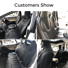 Leather Seat Covers for Tesla Model S Front Seats - TAPTES