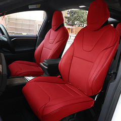 Seat Covers for Tesla Model X red