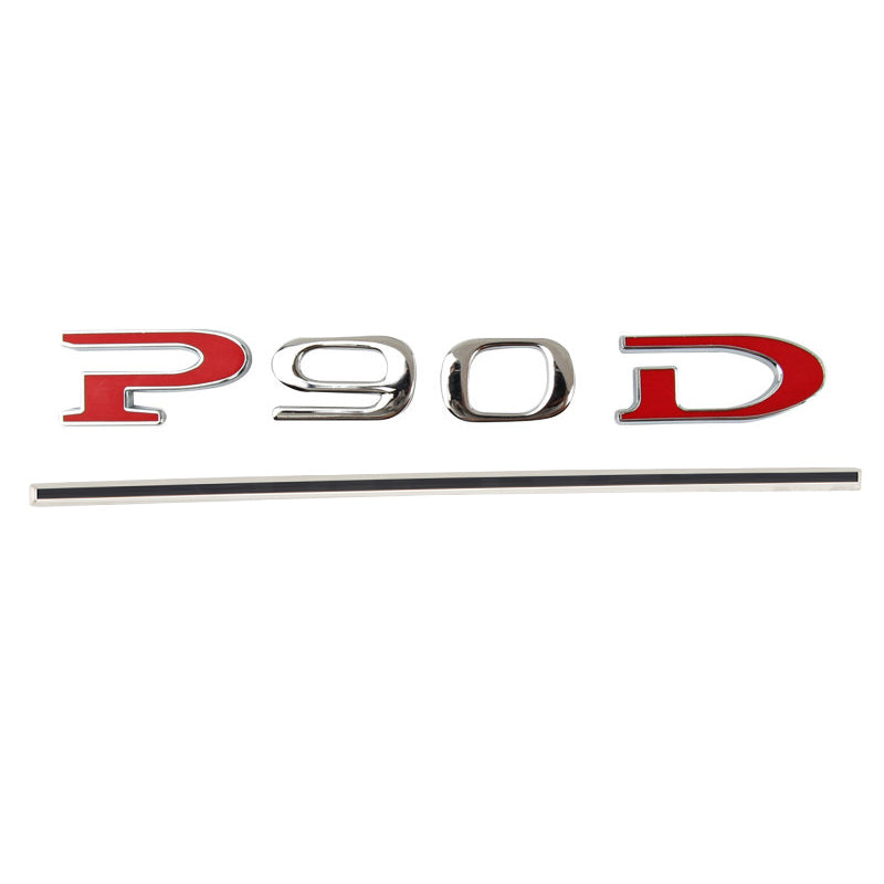 Car Tail P90D And P100D Letter Sticker for Tesla Model S - TAPTES