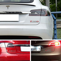 Customized Stereoscopic P90D P100D Sticker for Tesla Model X
