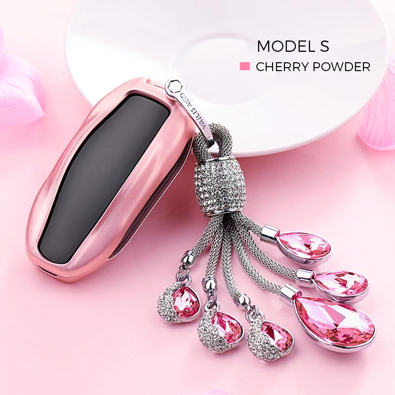 Crystal Chain Key Fob Cover for Tesla Model S - TAPTES
