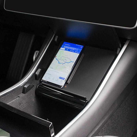 Wireless Phone Charger for Tesla Model 3, Wireless Charging for iPhone