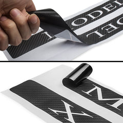 Carbon Fiber Door Sills Protection Stickers  for Model X - TAPTES