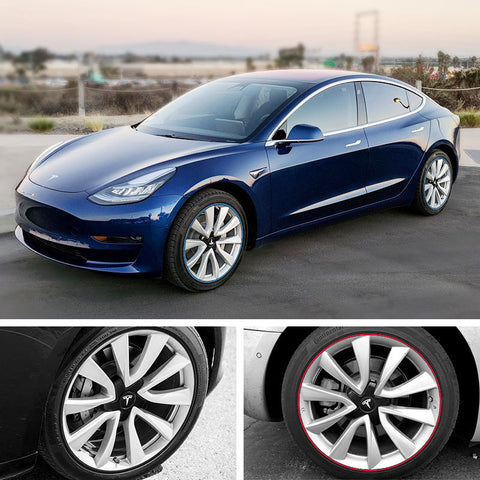 Wheel Bands / Rim Protection for Tesla Model 3 for All Four Wheels