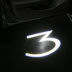 "Logo ""3"" LED Puddle Lights for Tesla Model 3 ( Set of 2) - TAPTES"