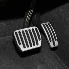Performance Pedal Covers for Tesla Model 3, Silver, Red, Blue - TAPTES