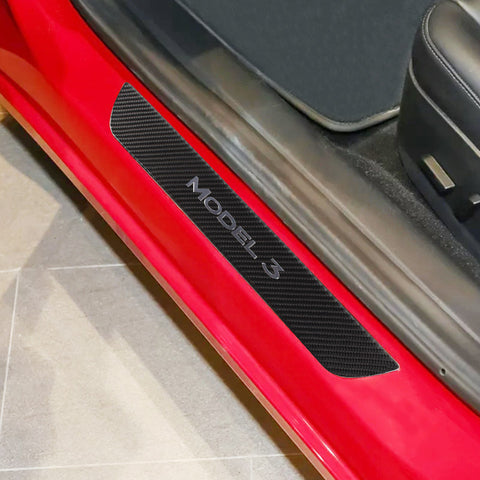 Carbon Fiber Door Sill Protection for Tesla Model 3 - 2pcs - TAPTES