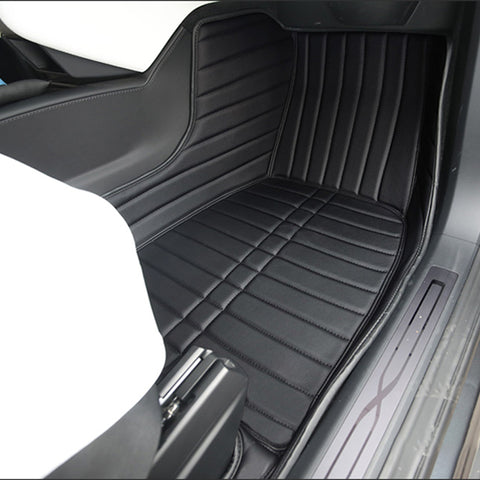 Tesla Fully Covered Leather Floor Mats for Model X - TAPTES