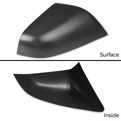 Pack of 2pcs Carbon Fiber Side Mirror Covers Cap for Model X - TAPTES