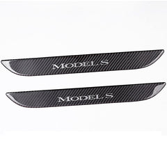 Carbon Fiber Door Sills Protection Kit Stickers  for Model S - TAPTES