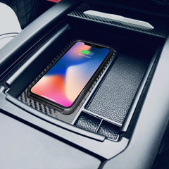 Storage Box with Wireless Charger for Model X - TAPTES