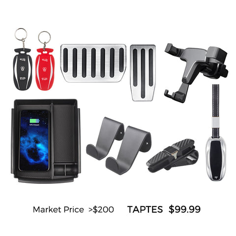 Tesla Model S Accessories Bundles for New Model S Owners - Standard Bundle - TAPTES
