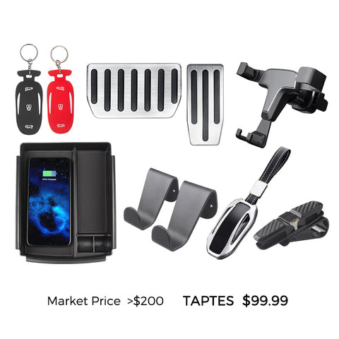 Tesla Model X Accessories Bundles for New Model X Owners - Standard Bundle - TAPTES