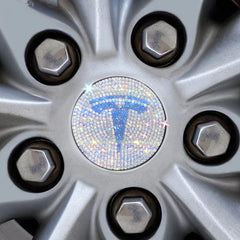 Diamond Decorative Tesla Badge Emblem Logo For Tesla Model X - TAPTES