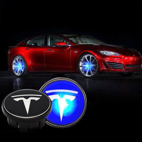 Wheel Center Caps with Lights for Tesla Model S, 4PCS - TAPTES