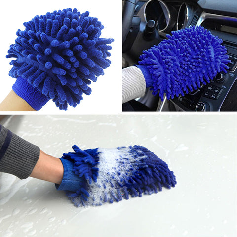 Premium Chenille Car Wash Glove soft Microfiber Coral Velvet for Model 3, Model X, Model S