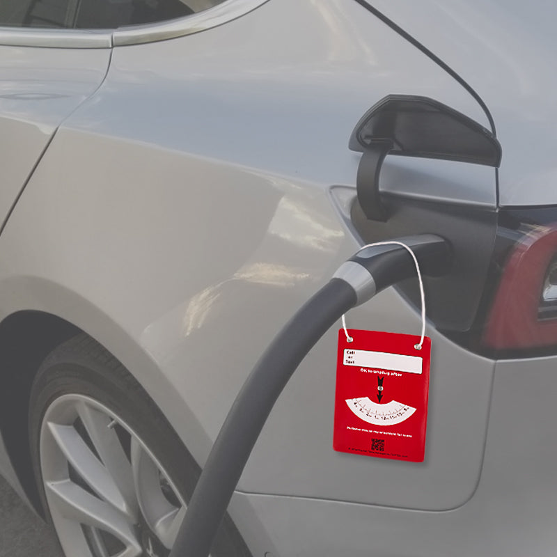 Hang Tag Charging Notice for Tesla Model S X 3