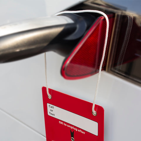 Hang Tag Charging Notice for Tesla Model S X 3 - TAPTES