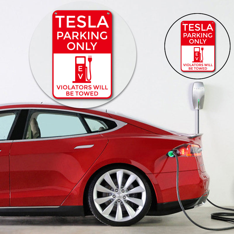 Tesla Parking Only Parking Poster Sign for Tesla Model S X 3 - TAPTES