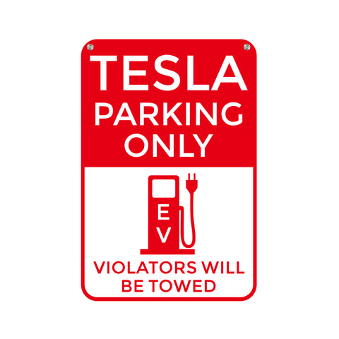 Tesla Parking Only Parking Poster Sign for Tesla Model S X 3