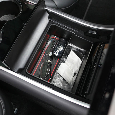 Center Console Trash and Storage Bin for Tesla Model 3 (Two in One)