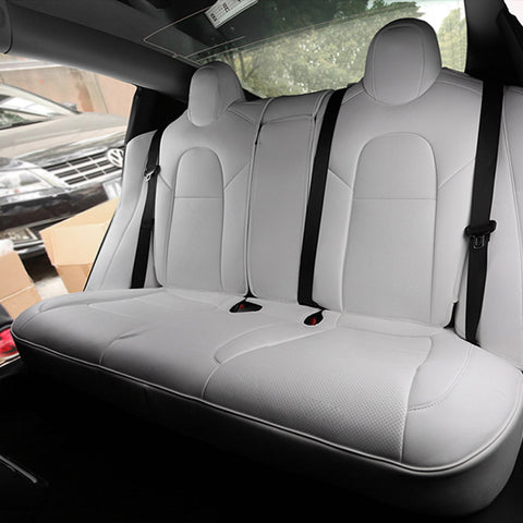 Leather Seat Covers for Tesla Model 3 Rear Seats