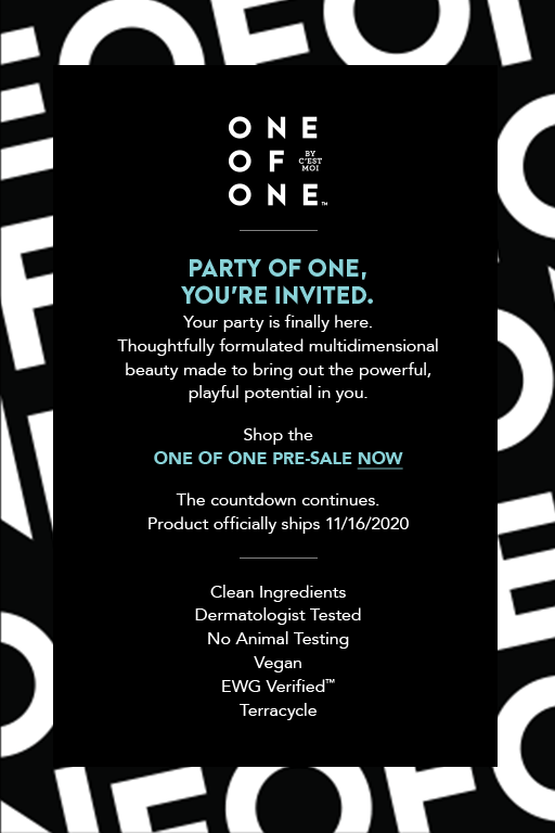 Shop theONE OF ONE PRE-SALE NOW  The countdown continues.Product officially ships 11/16/2020