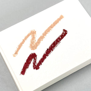 Load image into Gallery viewer, Think Twice Dual eyeliner - Metallic Auburn and Matte Taupe swatches