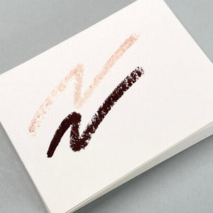 Think Twice Dual eyeliner - Matte Dark brown and Metallic Rose Gold swatches