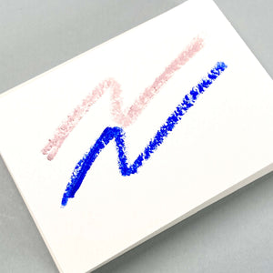 Think Twice Dual eyeliner - Matte Light Pink and Metallic Electric Blue swatches