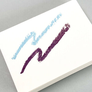 Think Twice Dual eyeliner - Metallic Sky Blue and Matte Eggplant swatches