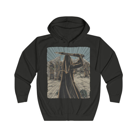 The Pen is Mightier Than the Sword - Unisex Full Zip Hoodie