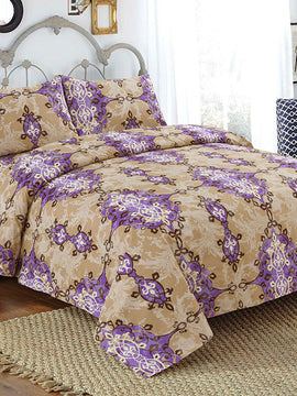 SINGLE BED SHEET 2PCS-BEGE