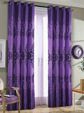 PALACHI CURTAIN 2PANELS-PURPLE - PRIMAL