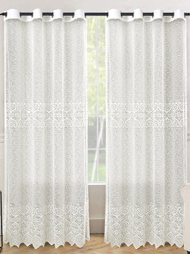 NET CURTAINS PAIR-OFF WHITE