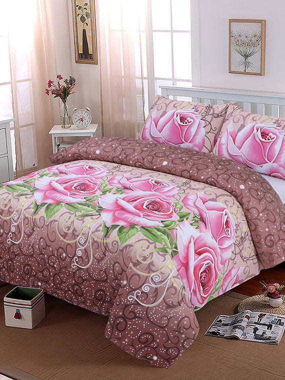 new style bc91f e6863 DOUBLE BED SHEET 3 PCS- ROSE GOLD