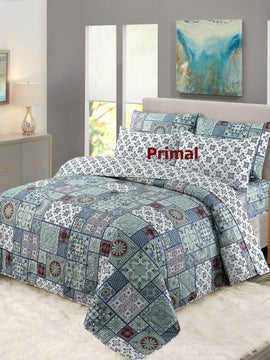 KING COMFORTER BED SPREAD 6 PCS-005 WITH FREE 1 EXTRA BED SHEET