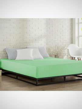 GREEN FITTED SHEET+PILLOW COVERS - PRIMAL