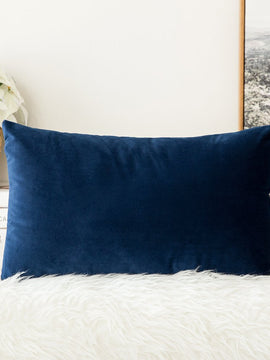 PREMIUM VELVET PILLOW COVER 1 PIECE-NAVY BLUE