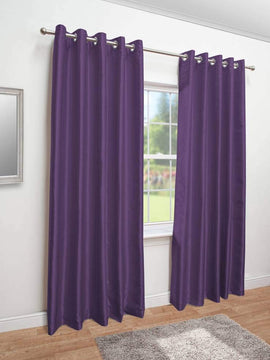 PREMIUM VELVET CURTAINS PAIR-PURPLE