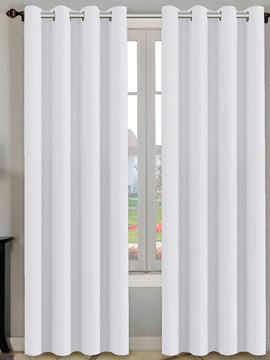 PREMIUM VELVET CURTAINS PAIR-WHITE