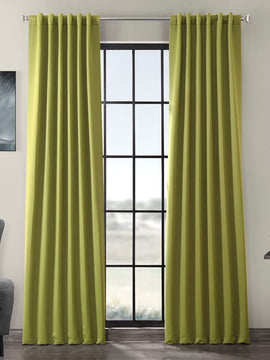 PREMIUM VELVET CURTAINS PAIR-LIGHT GREEN